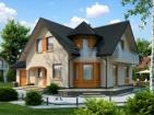 Проект элегантного дома с гаражом и подвалом